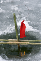 Tip-ups, ice fishing equipment