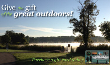 Starting Dec. 20, 2013, DNR e-gift cards will be available for purchase and can be used at state parks and harbors.