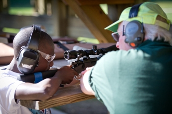 Kids can try firearms, archery equipment