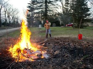 Burn safe while cleaning up yard debris.
