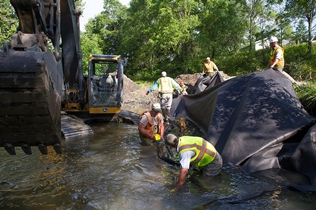 DNR crew, contractors work on Highbank Creek