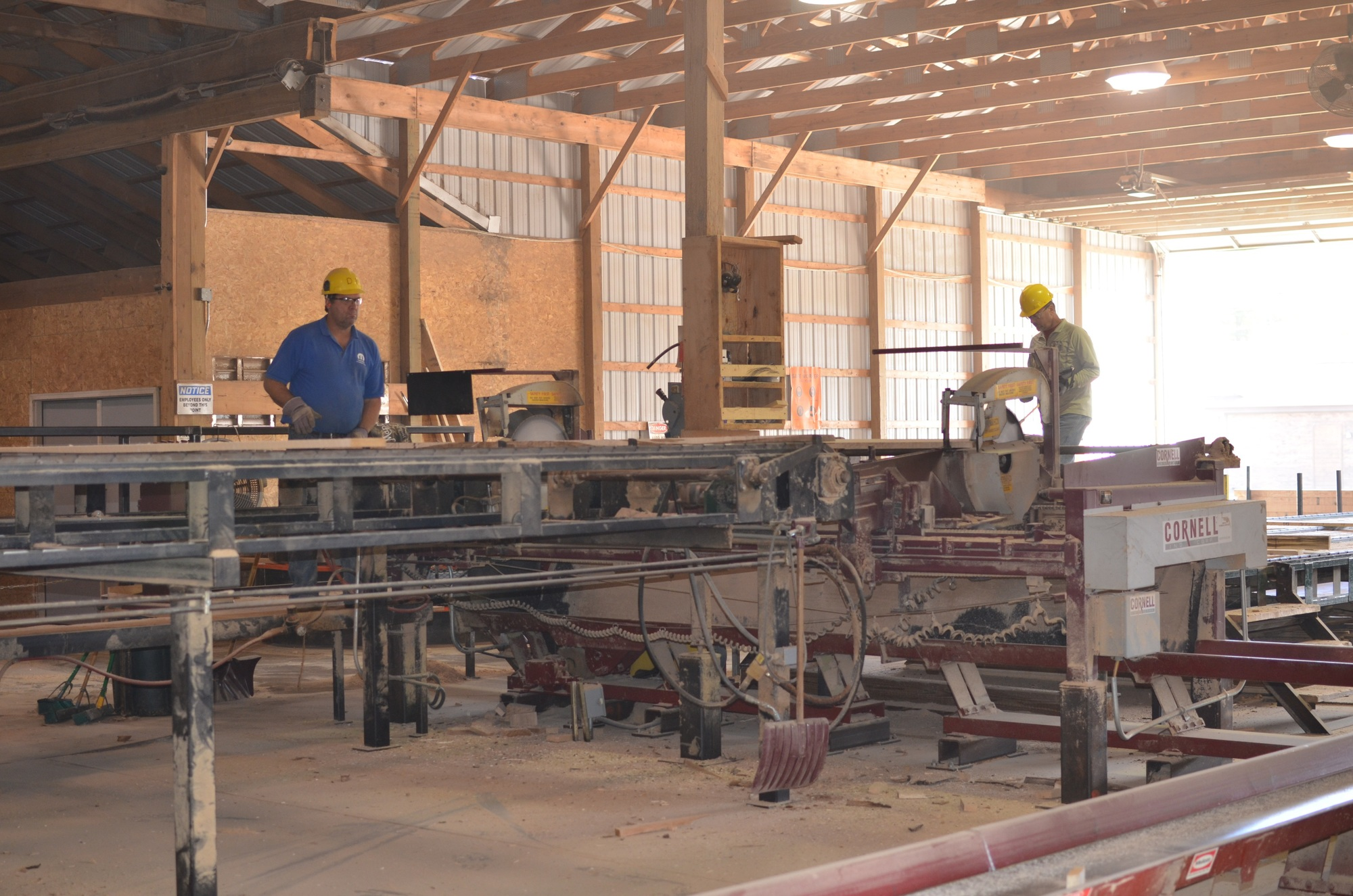 Production of forest products is an important part of Michigan's economy.