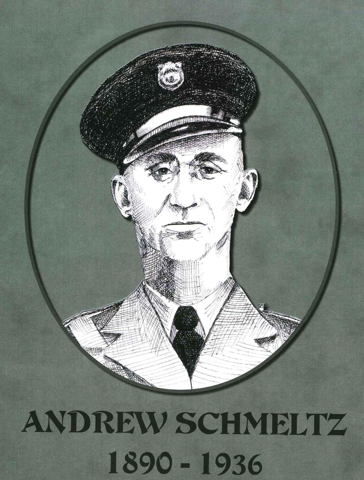 Sketch of Andrew Schmeltz, killed in 1936.