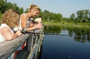 Plenty of fun on tap at wolf lake state fish hatchery this for Wolf lake fishing
