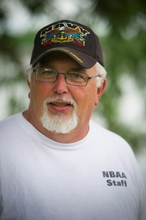 closeup view of Bobby Hutchison, Get Your Five Bass Club tournament director