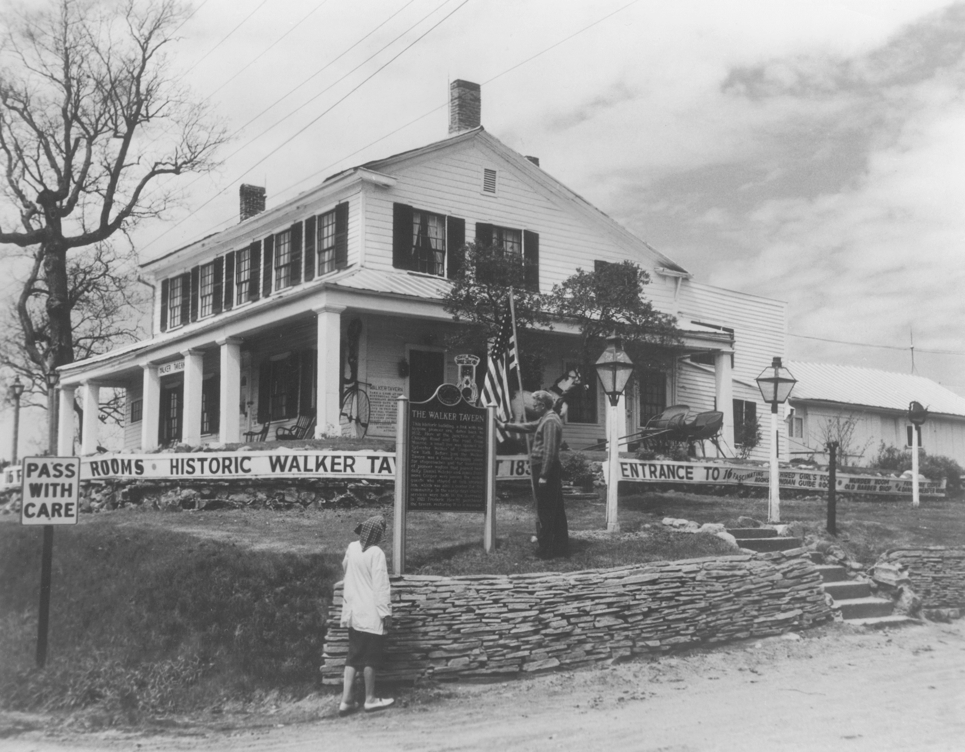 Jeanne Hewitt Keith and her husband, Forist in a 1960's photo of the tavern.