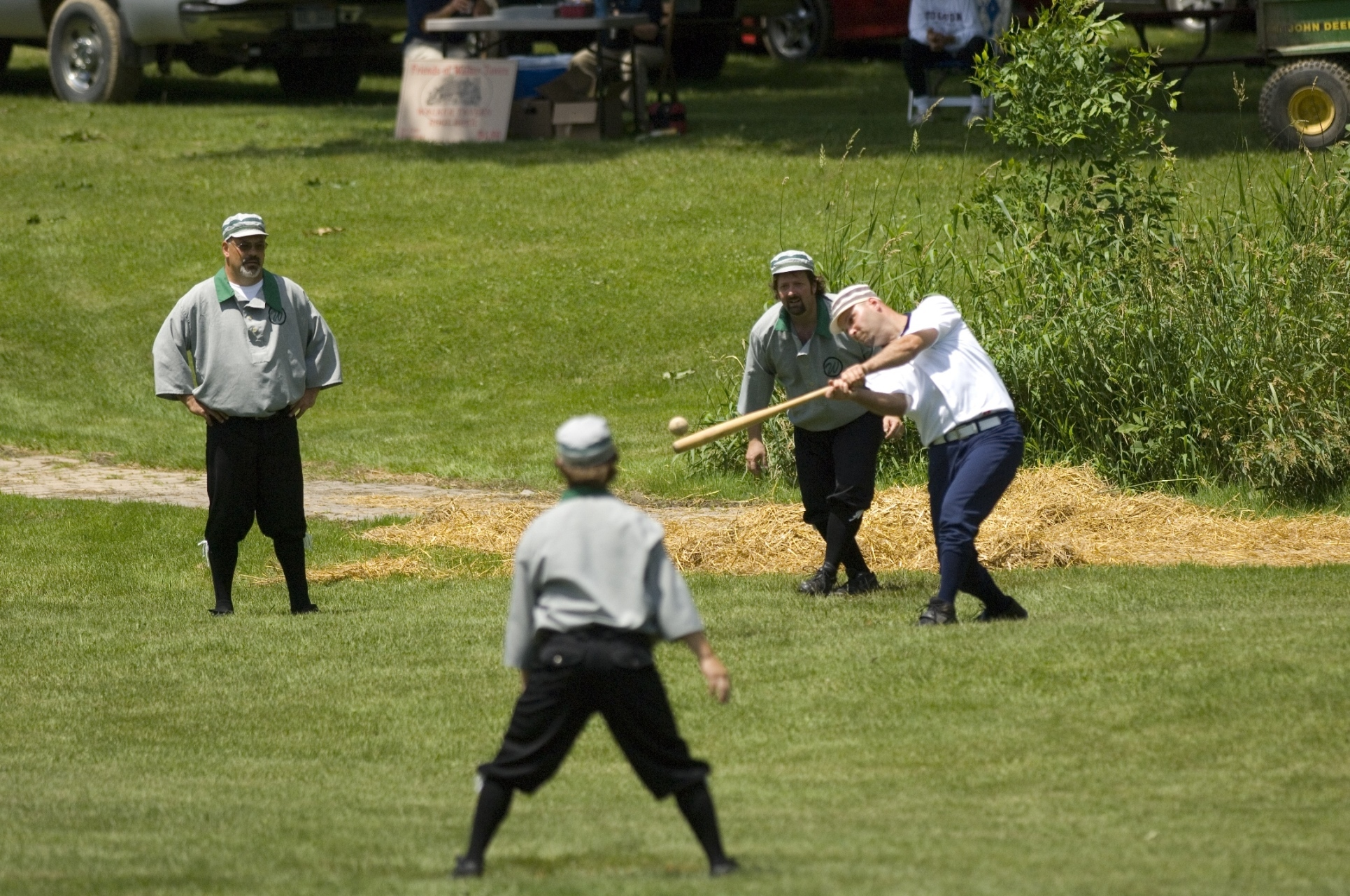 A popular attraction at Walker Tavern Historic Site, the Walker Wheels vintage base ball team plays by 1860's rules - no sliding, swearing or mitts.