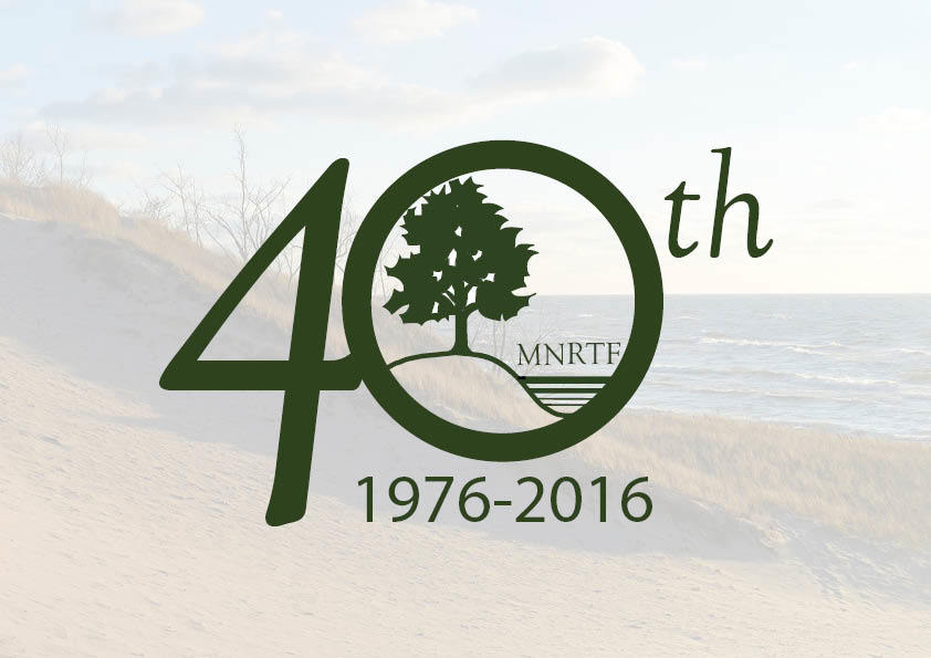 The Michigan Natural Resources Trust Fund 40th Anniversary Logo.