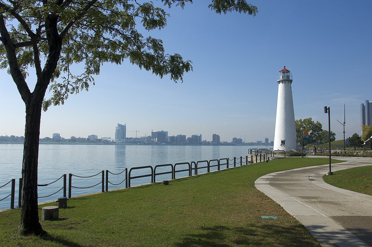 The Detroit Riverwalk is a beautiful urban setting developed with the help of Michigan Natural Resources Trust Fund grants.