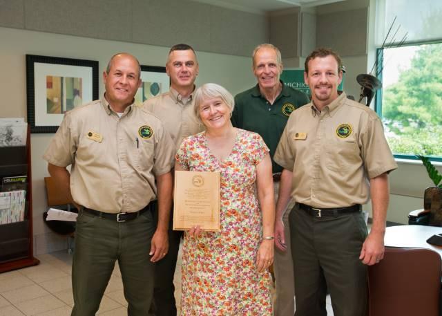 Susan Lackey award presentation
