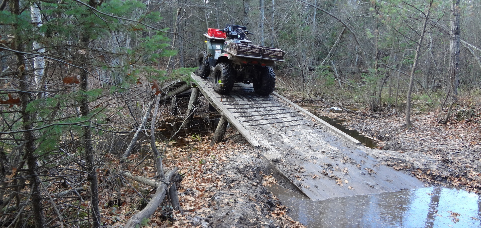 Decking along the Geels Trail in Roscommon County is among the improvements to the Lower Peninsula off-road vehicle trails network.