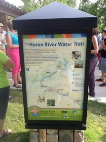 Huron River Water Trail sign