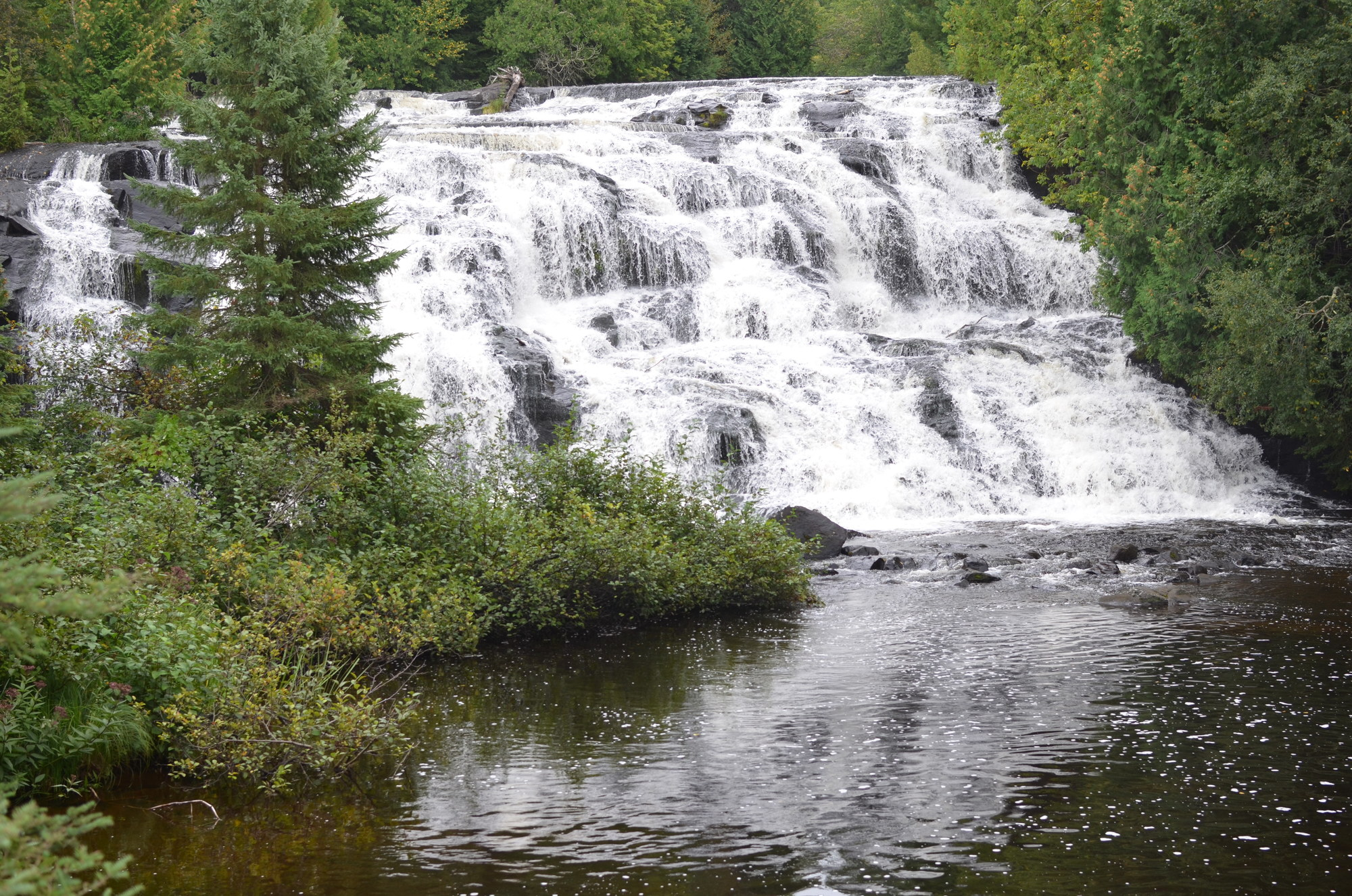 Bond Falls, in southern Ontonagon County, is among the beautiful Michigan destinations enjoyed by off-road vehicle riders.
