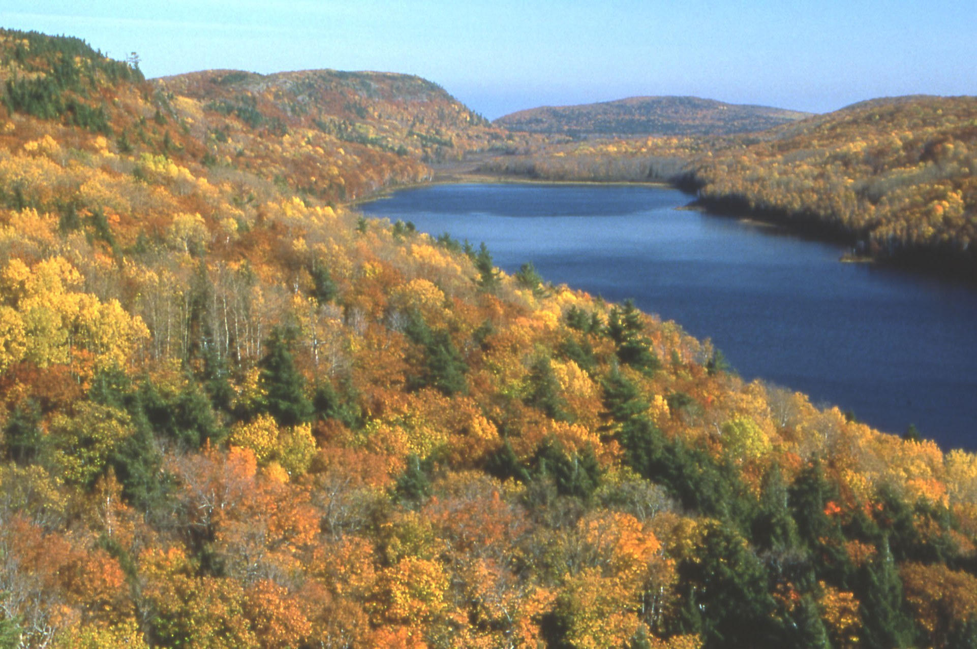 Upper Peninsula fall color at Porcupine Mountains Wilderness State Park.