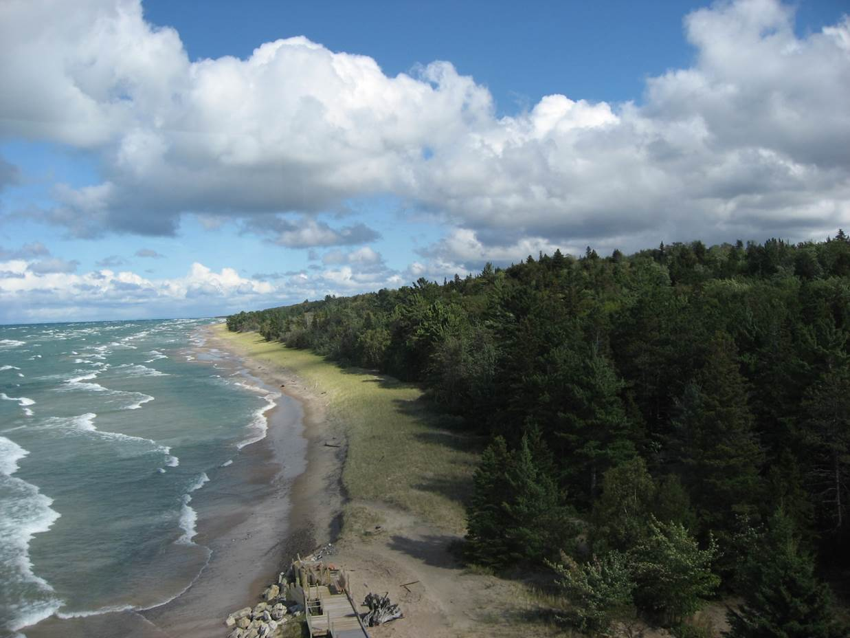 The Crisp Point property includes over 3,800 acres of forestland and 2.5 miles of Lake Superior shoreline.