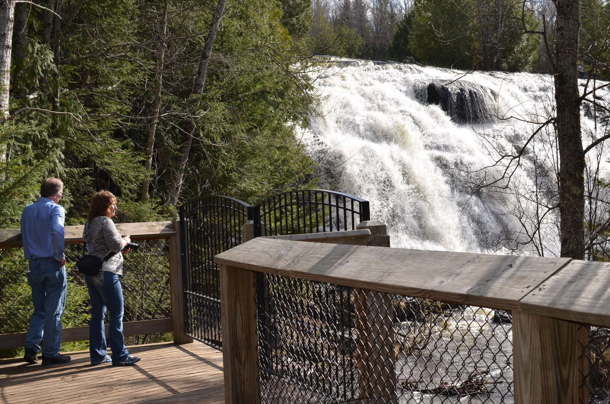 Bond Falls in Ontonagon County is one site of a Michigan Natural Resources Trust Fund project to construct all access walkways and other features.