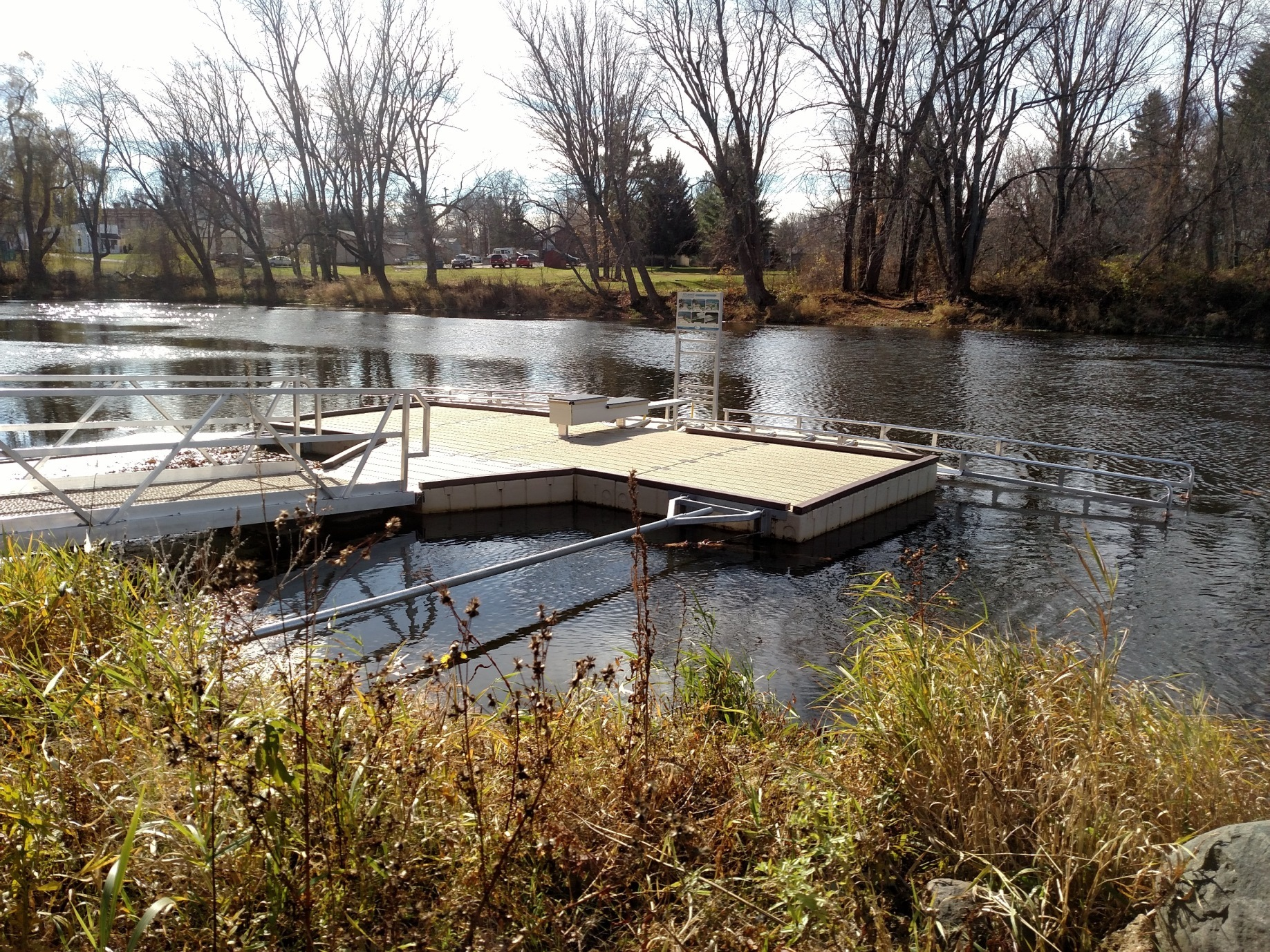 A Michigan Natural Resources Trust Fund project in Dimondale in Eaton County provided a universally accessible canoe/kayak ramp.
