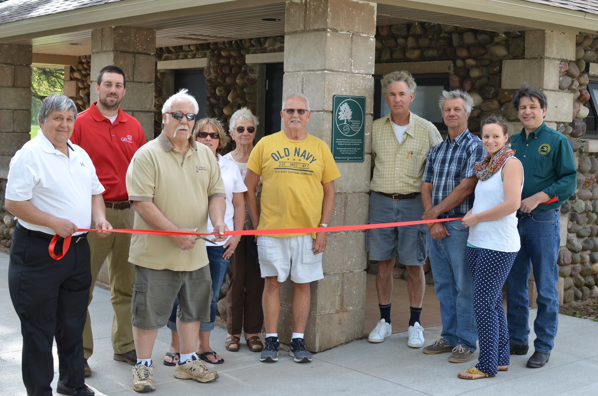 A Michigan Natural Resources Trust Fund grant funded rebuilding and remodeling a park restroom at Eddy Park on Sunday Lake in the city of Wakefield.