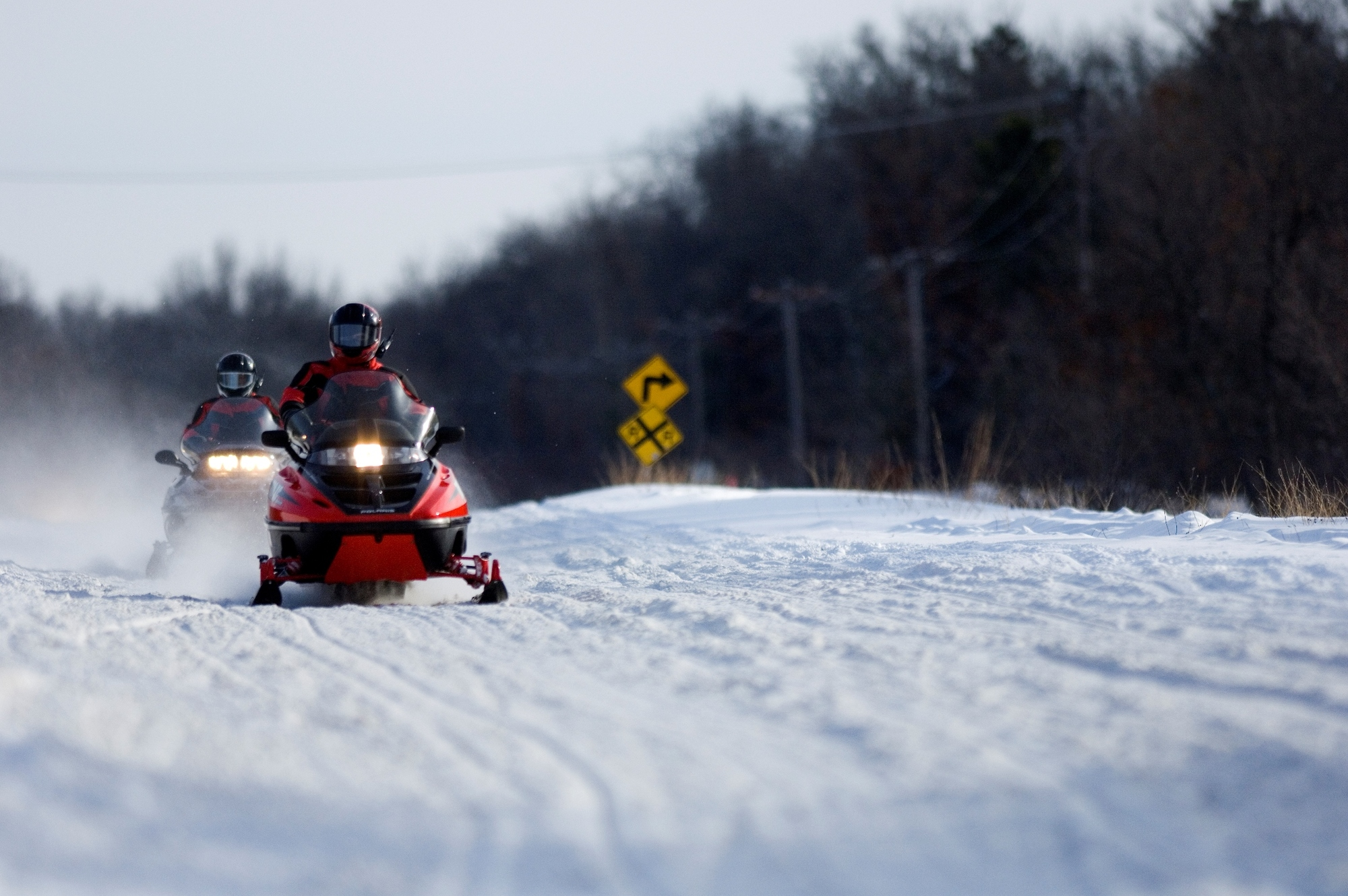 Michigan's snowmobile trails are among the finest anywhere.