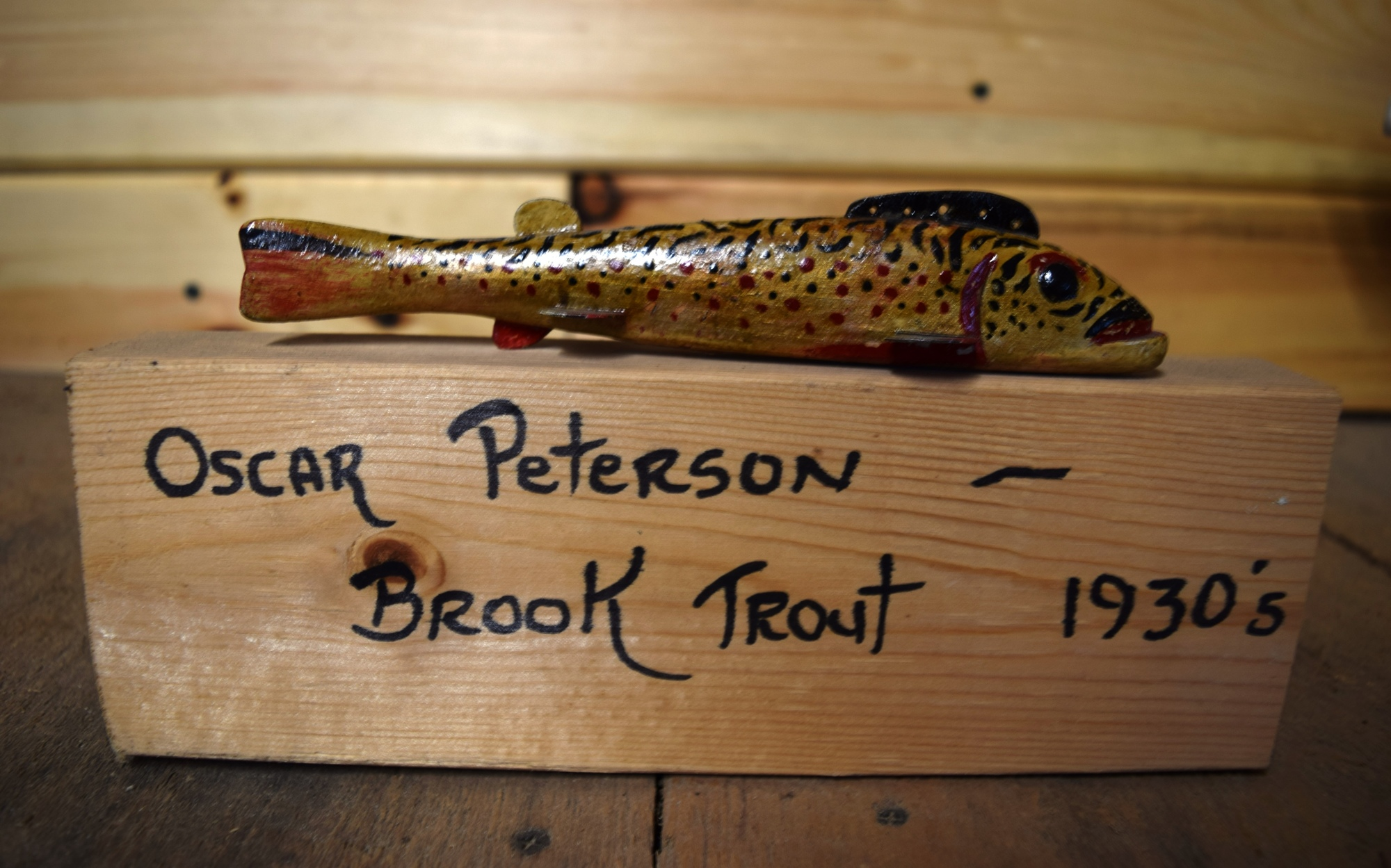 Collector's consider the late Oscar Peterson to be the Vincent Van Gogh of fish decoys.