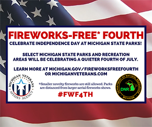 Fireworks-Free Fourth of July infographic