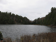Scenic shot of an inland lake