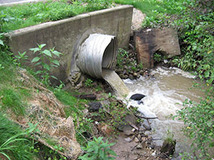 Example of a culvert in a river