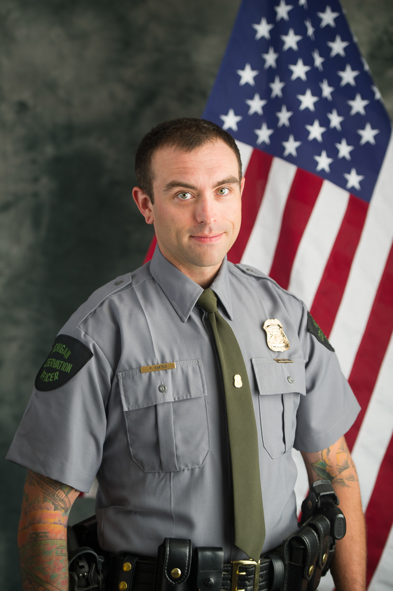 Michigan DNR Conservation Officer Patrick Hartsig