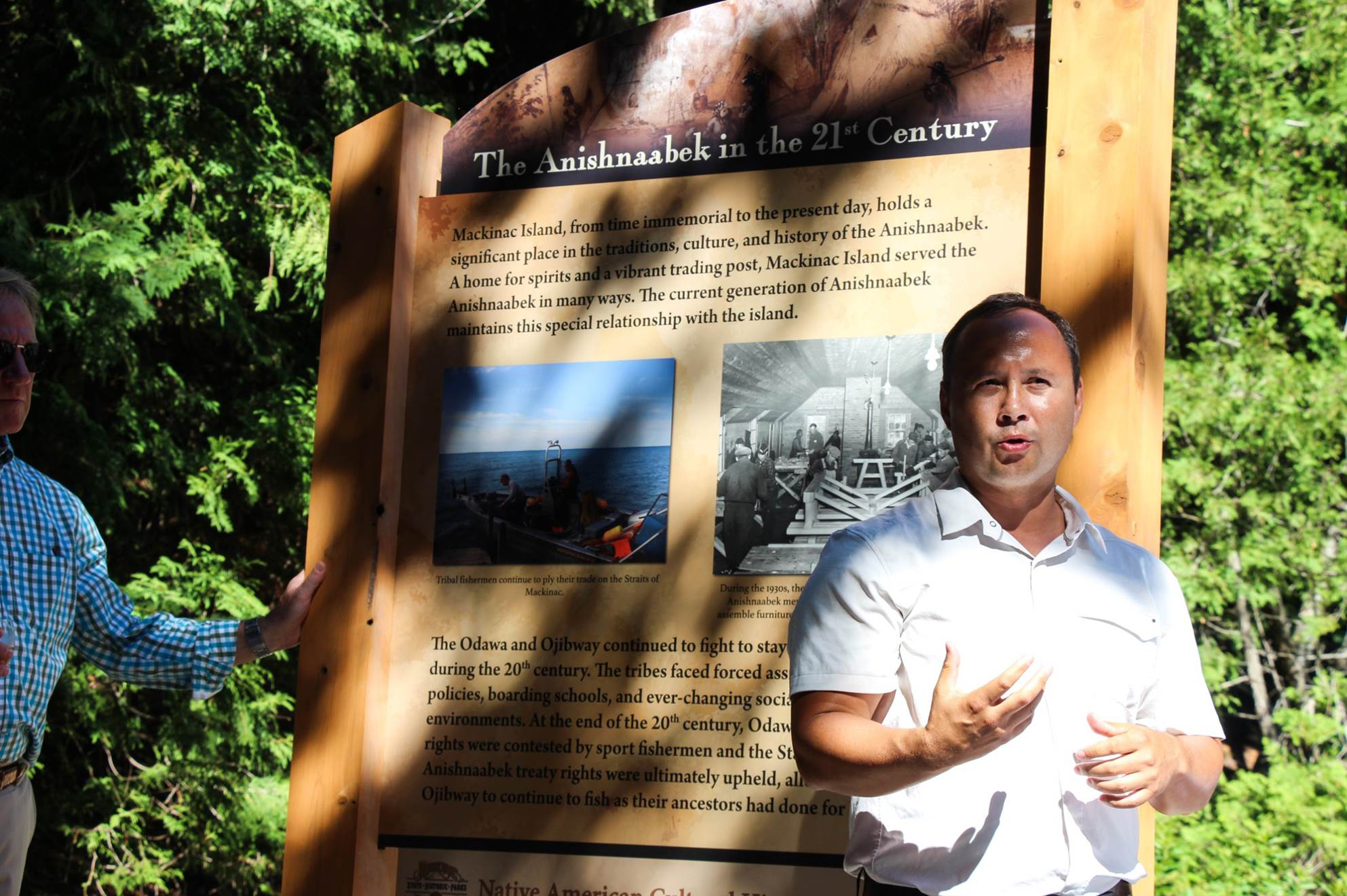Eric Hemenway, director of Archives and Records for the Little Traverse Bay Band of Odawa Indians, drafted the language for the interpretive panels.