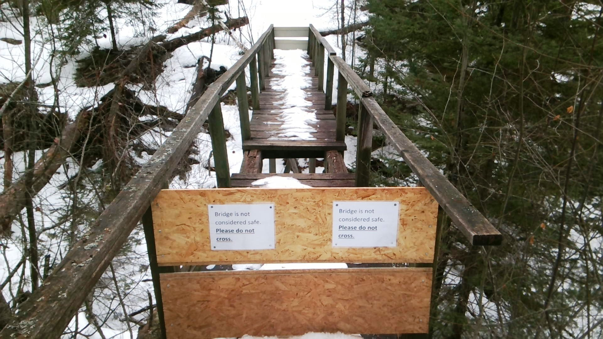 Michigan marquette county gwinn - A Footbridge At Black River Falls Has Been Deemed Unsafe And Has Been Closed By The