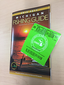 Dnr new fishing licenses required april 1 in michigan for Michigan non resident fishing license