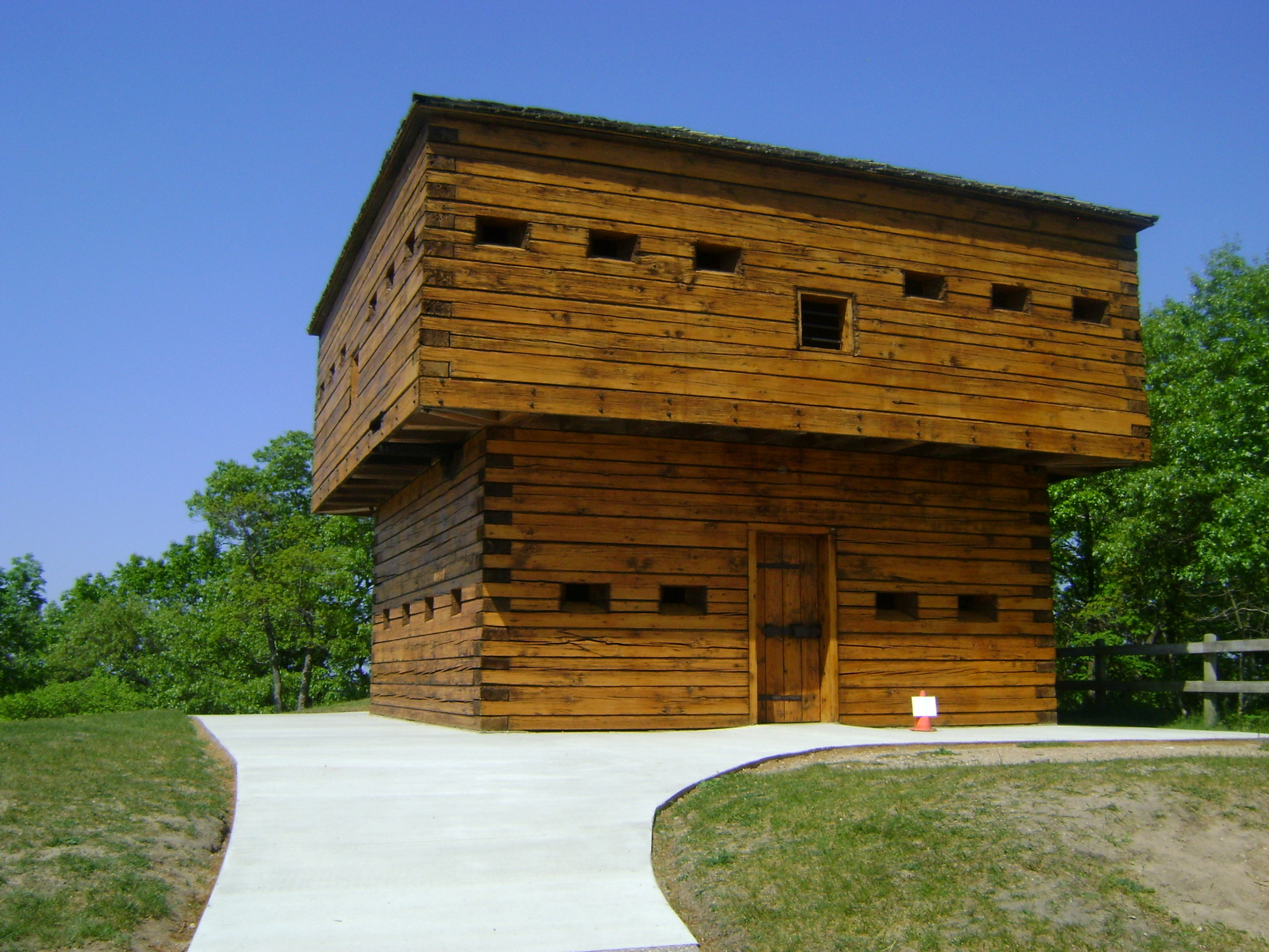 The historic blockhouse, a replica of Fort Detroit, is shown at Muskegon State Park in Muskegon County.