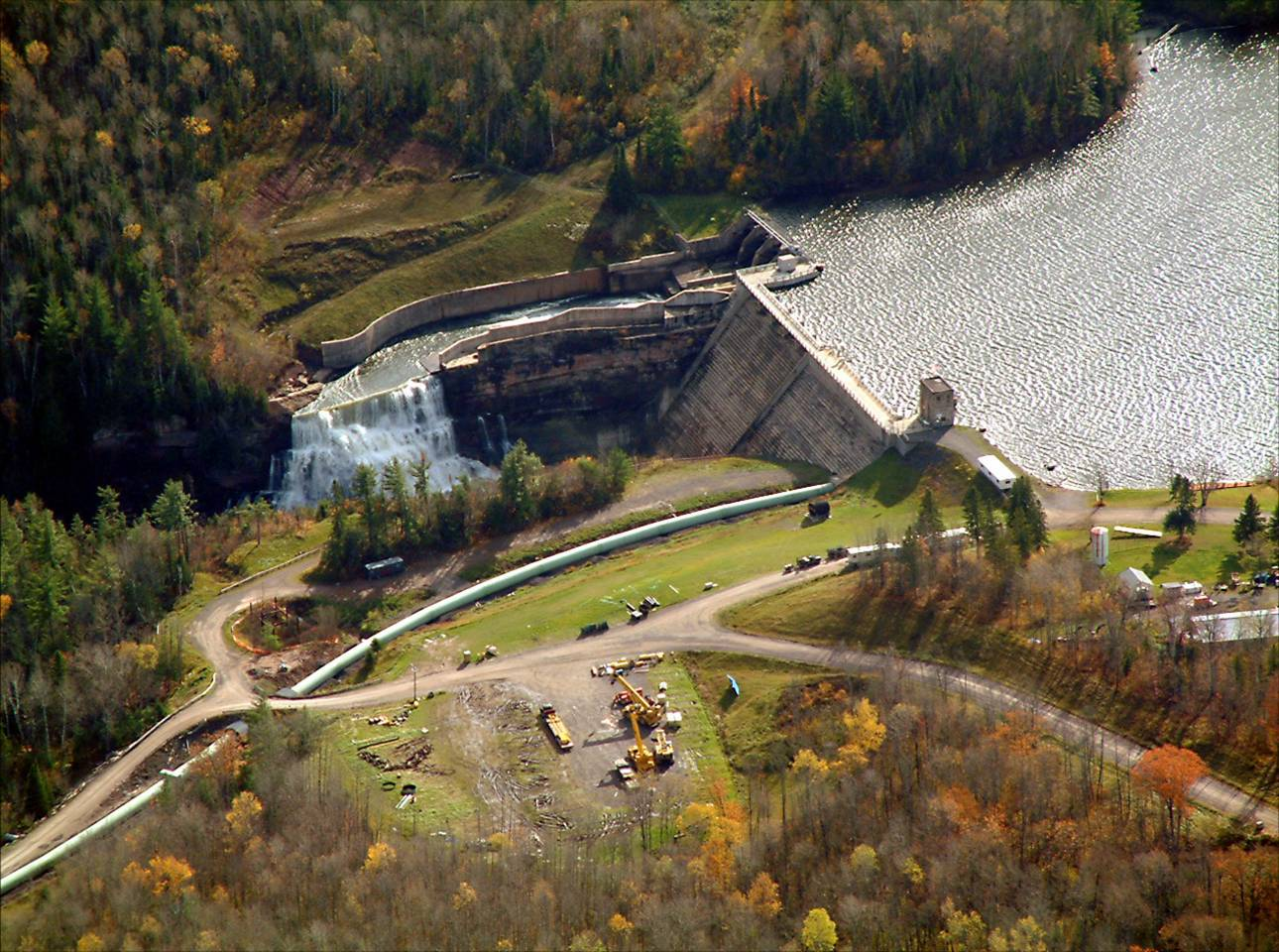 The Victoria Dam on the West Branch of the Ontonagon River provides good sport fishing opportunities.