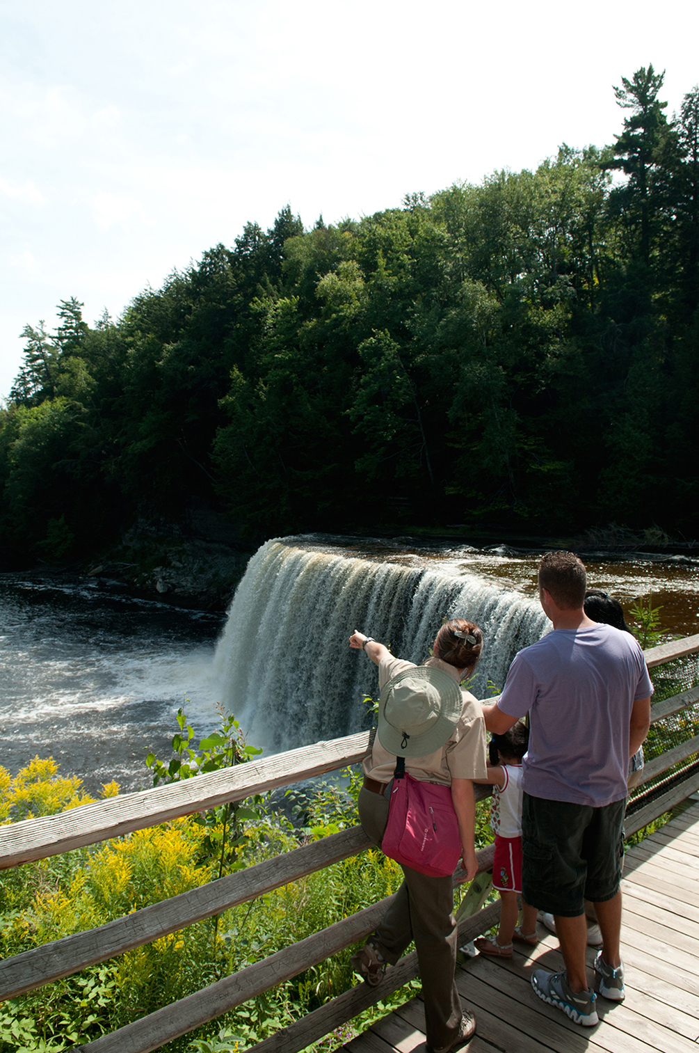 Education programs at Tahquamenon Falls State Park in the eastern Upper Peninsula help visitors learn more about the park's many features.