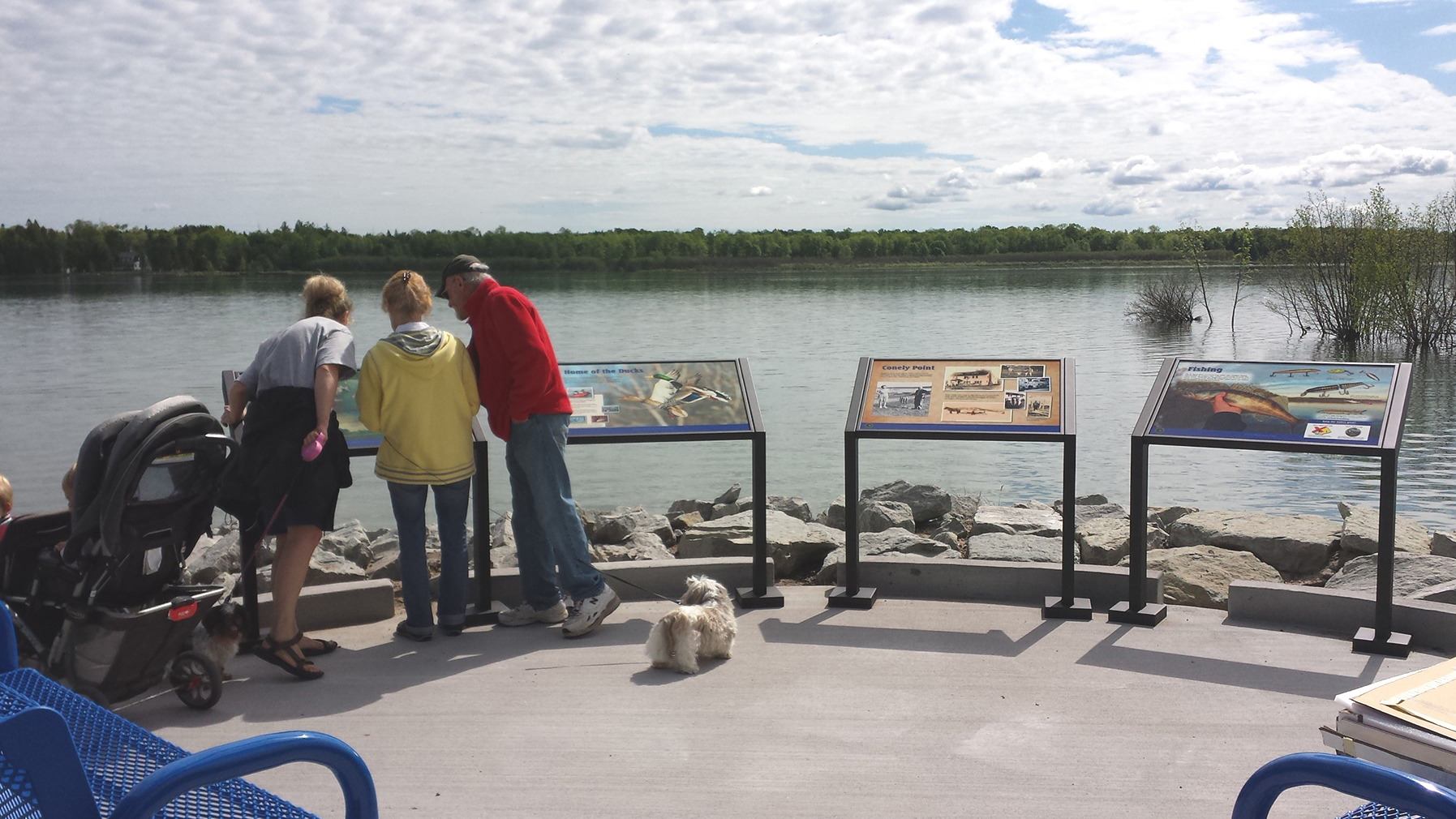 Conely Point Boating Access Site, on the St. Marys River in the Upper Peninsula, features displays that help visitors learn.