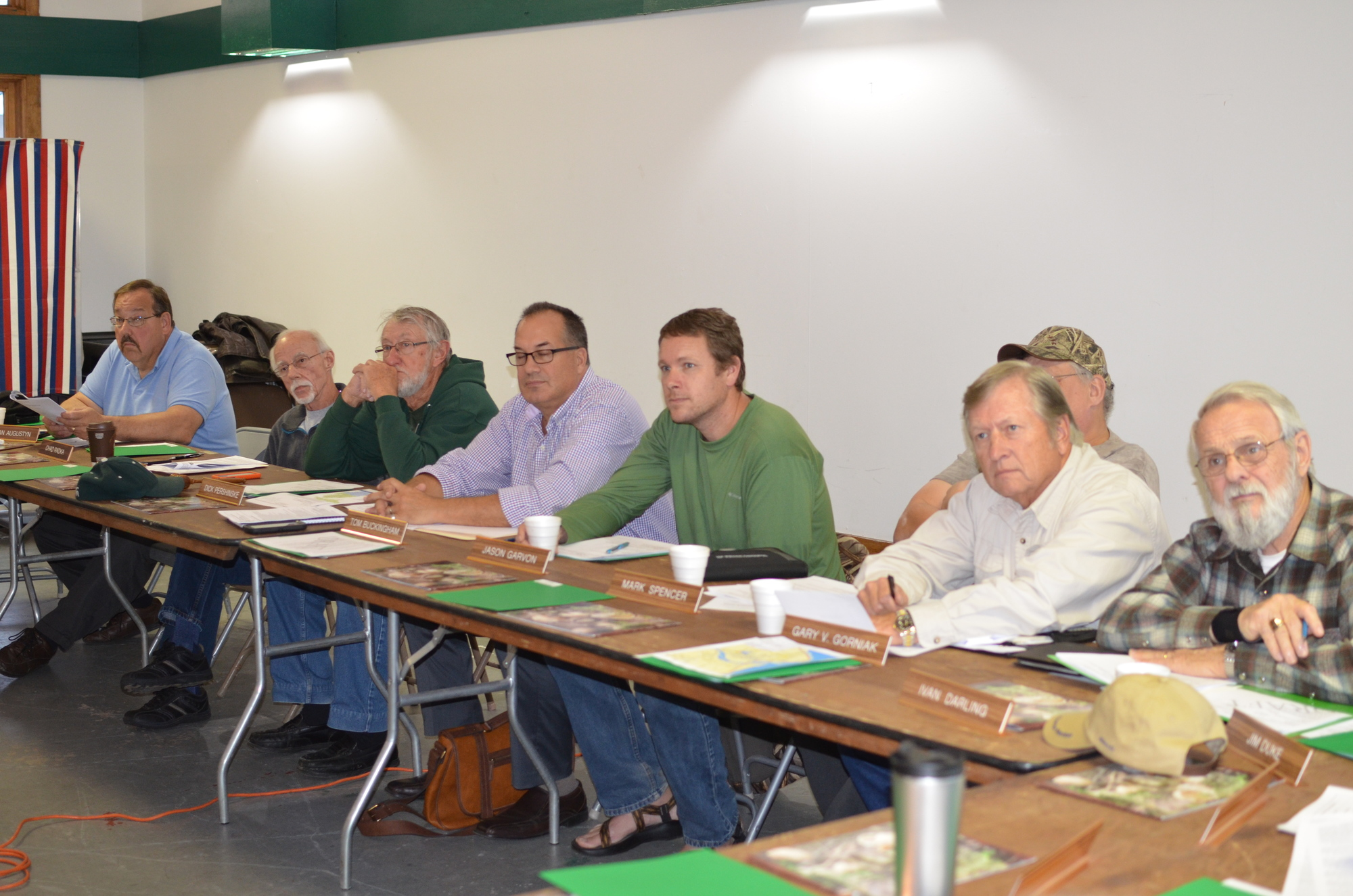 Members of the Eastern U.P. Citizens' Advisory Council listen to a speaker at a recent meeting.