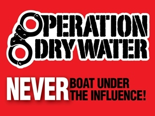 Operation Dry Water logo - never boat under the influence