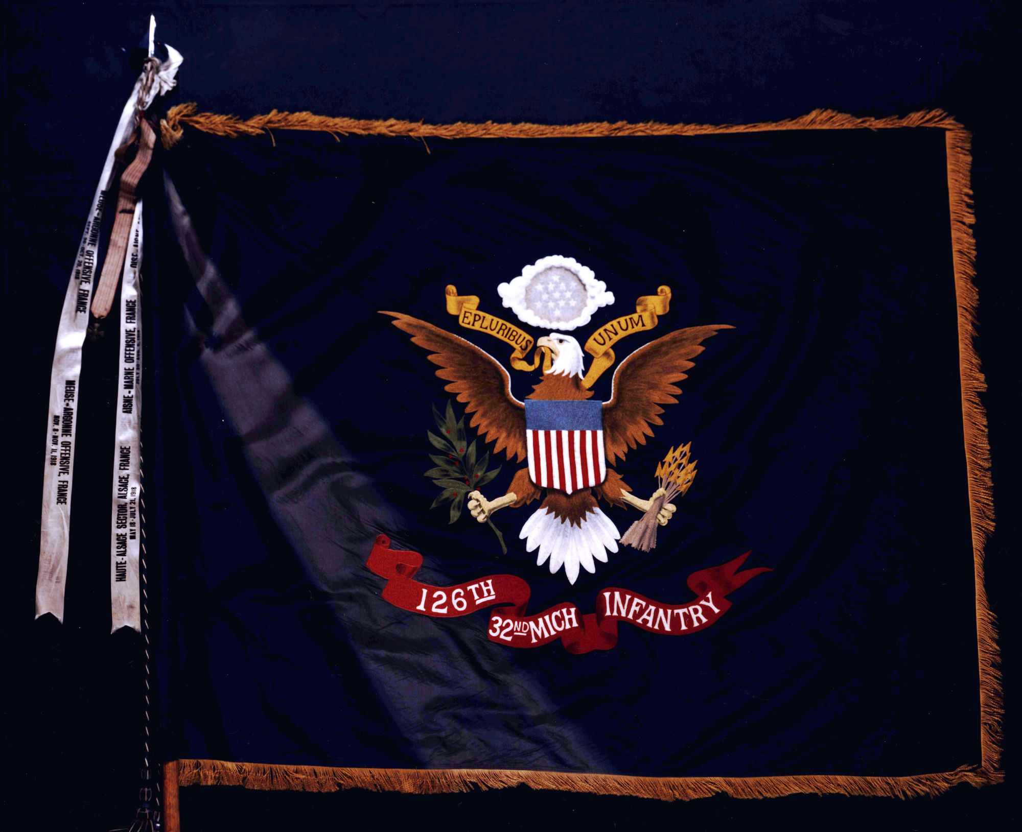 The World War I flag of the 126th Infantry.