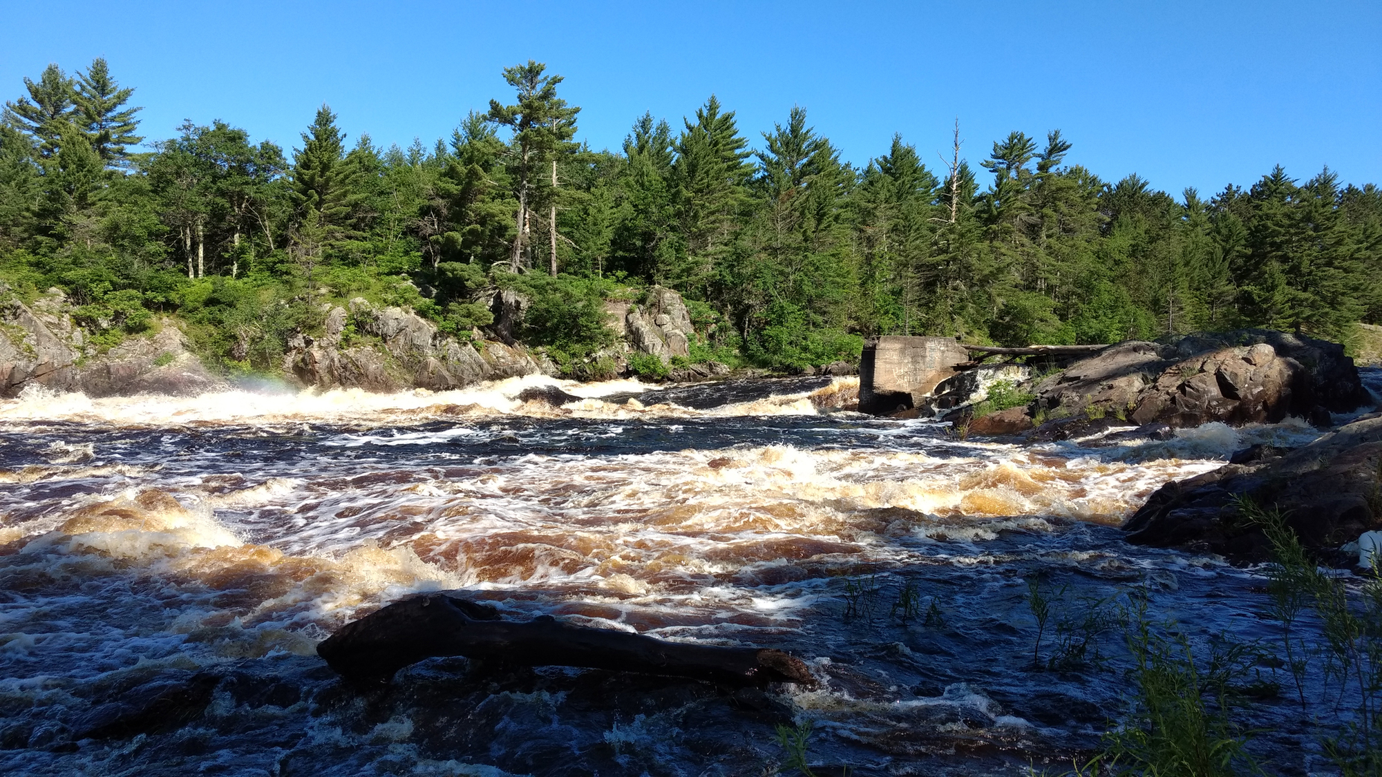 The Menominee River was photographed flowing at a high rate this week in the southwestern Upper Peninsula in Dickinson County.
