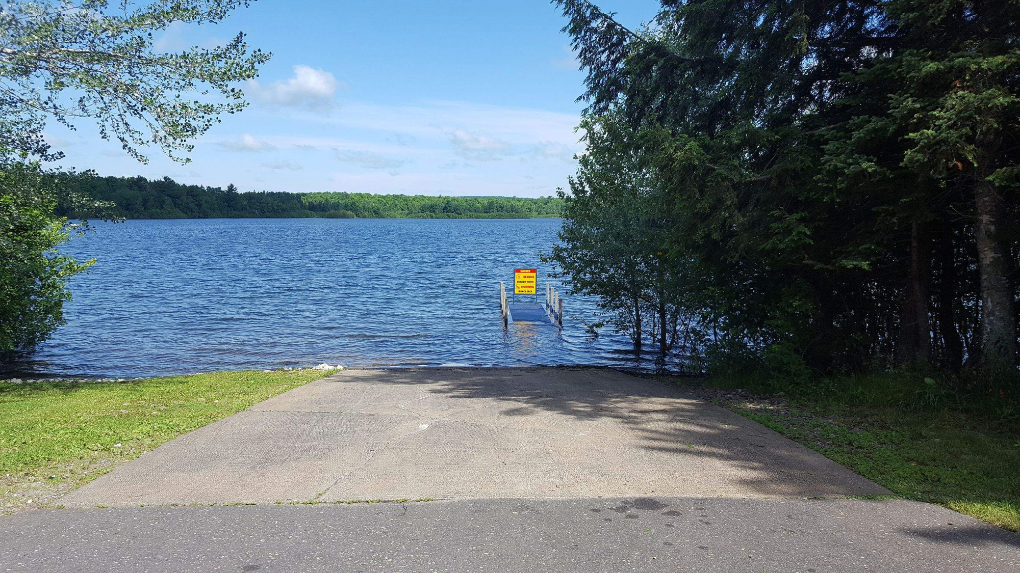 The boating access site at Indian Lake in Iron County, shown here, will be temporarily closed for installation of a new concrete boat ramp.