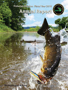 Cover of 2016 Fisheries Division Annual Report tri-fold