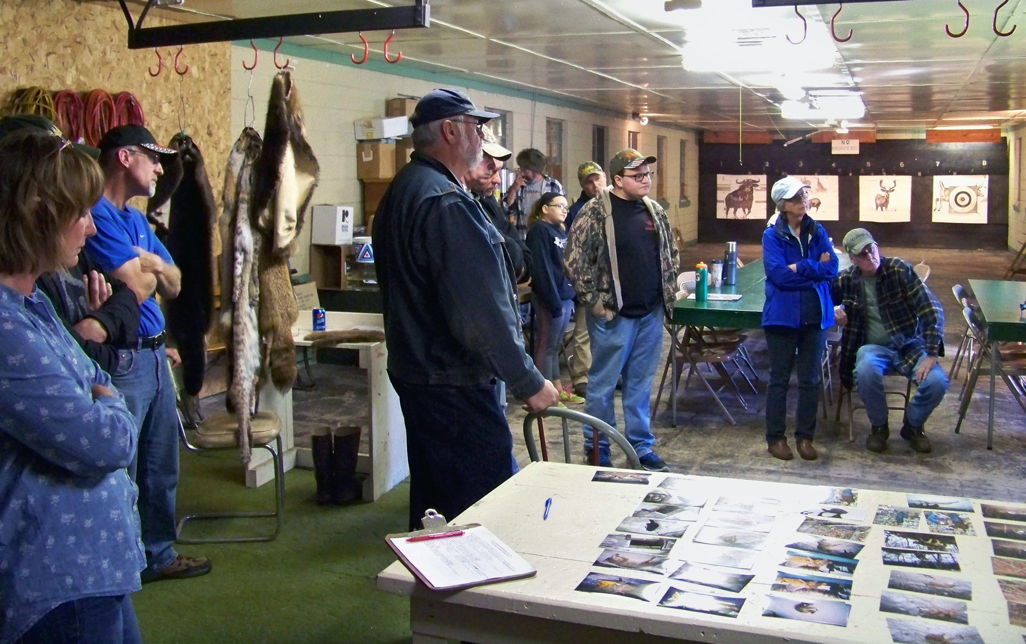 Participants enjoy the Lake Superior Sportsman's Club's Trappers' Workshop in Ontonagon County in 2016.