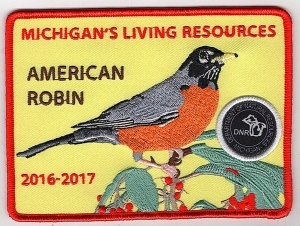 2016-2017 Michigan's Living Resources American robin patch