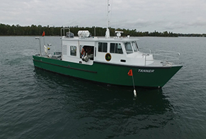 RV Tanner conducting fish community survey