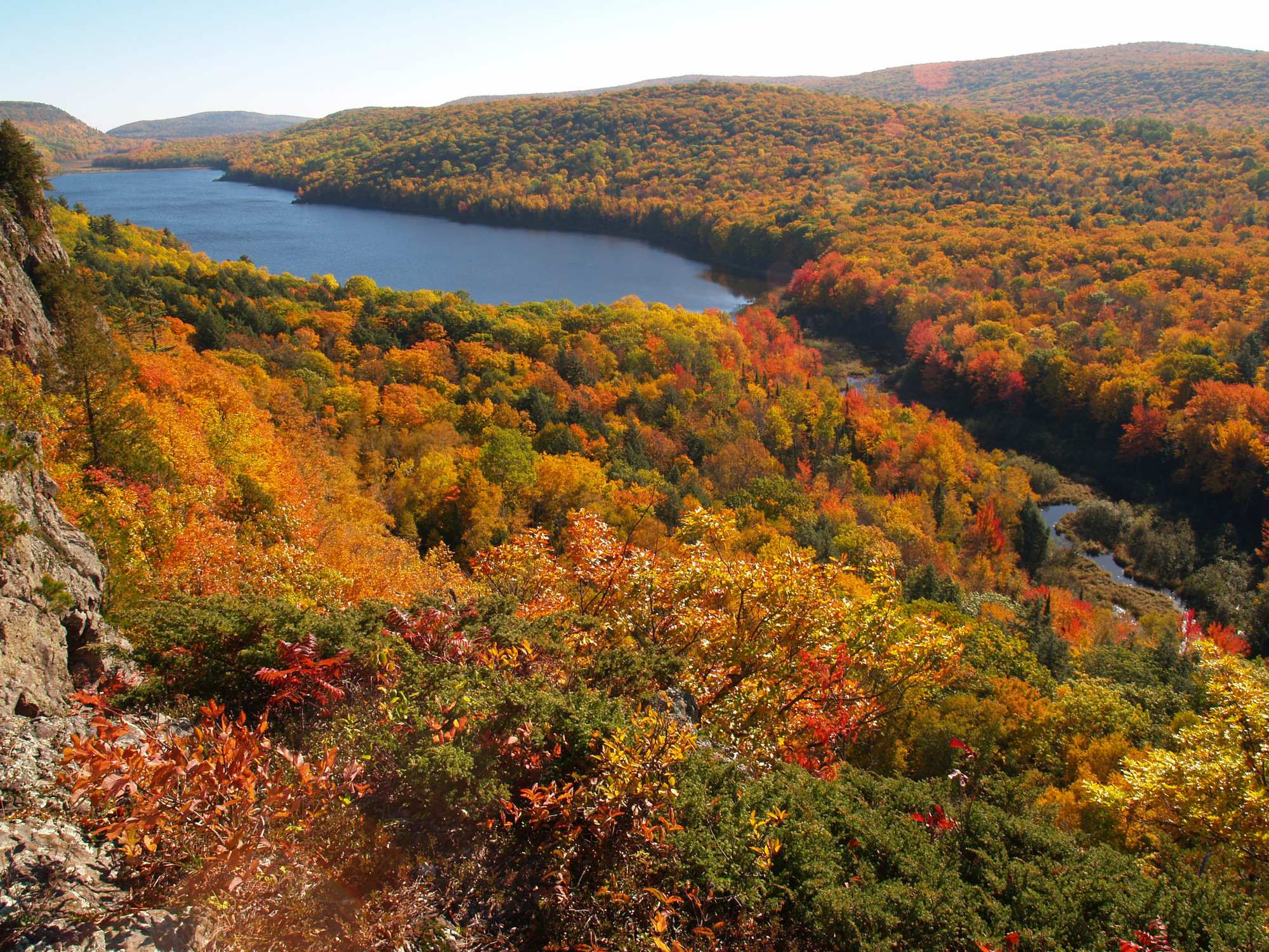 Deciduous forests produce fall color displays sought by a wide range of leaf peepers from Michigan and out of state.