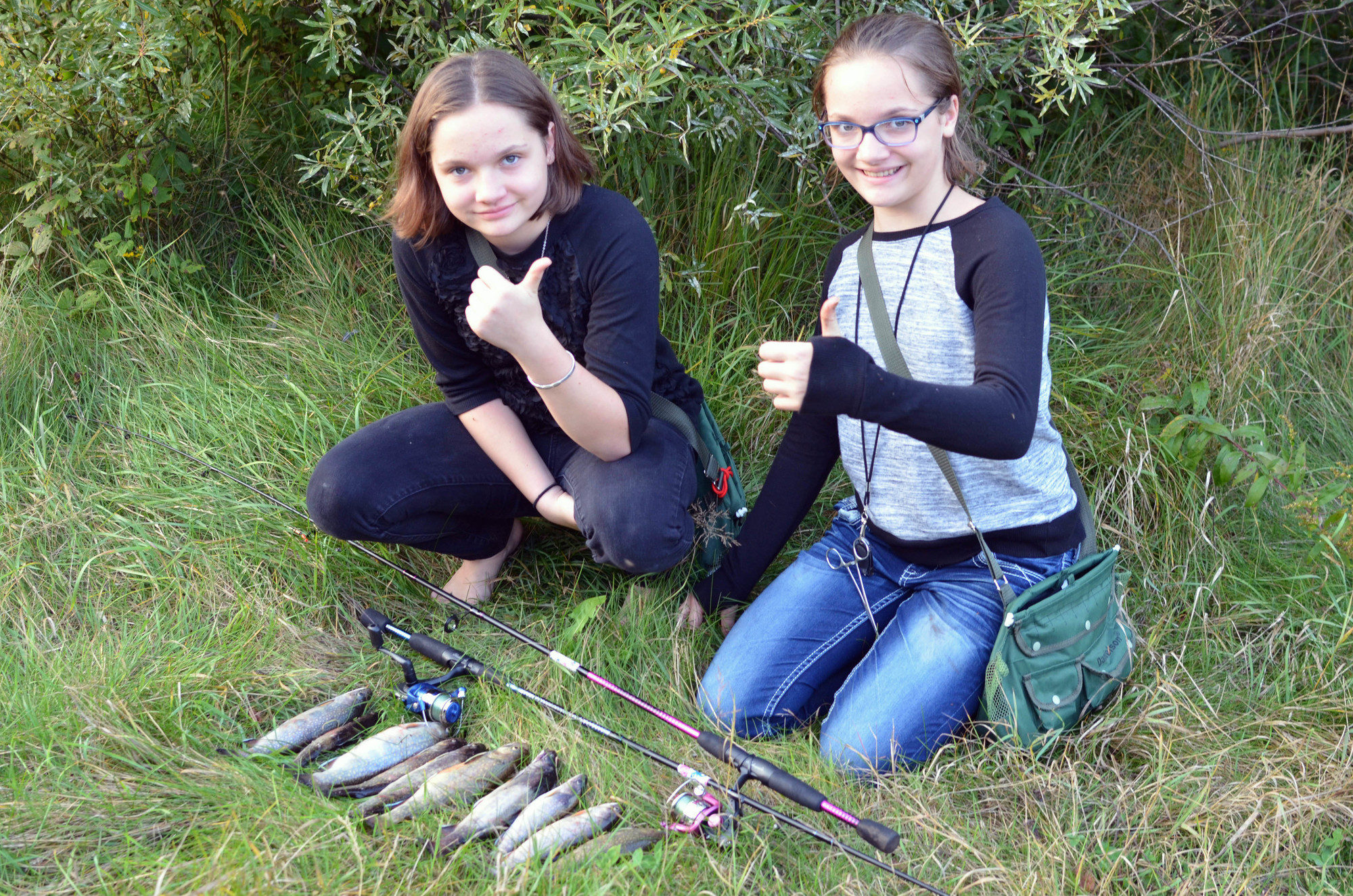 Anglers, like Halle and Hayden Graves, both 12, of Marquette can use the Mi-HUNT maps and aerial photography to plan their next fishing trip.