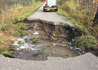 North Central State Trail washout