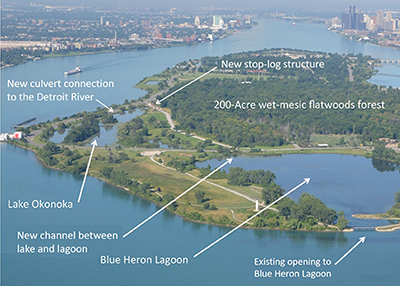 Lake Okonoka restoration effort project map