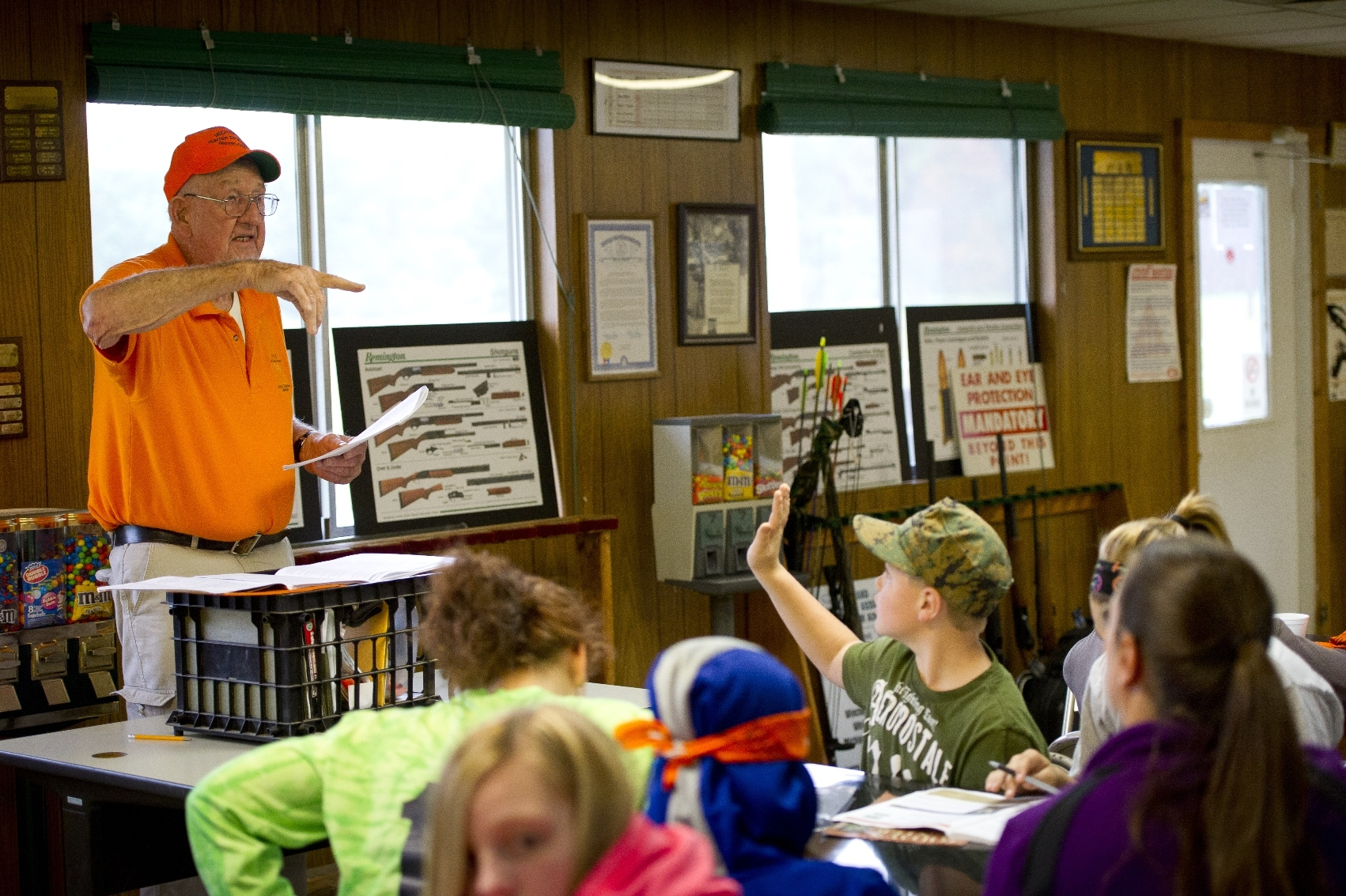 In Michigan, a traditional classroom hunter safety course involves a minimum of 10 hours spread over at least two days.