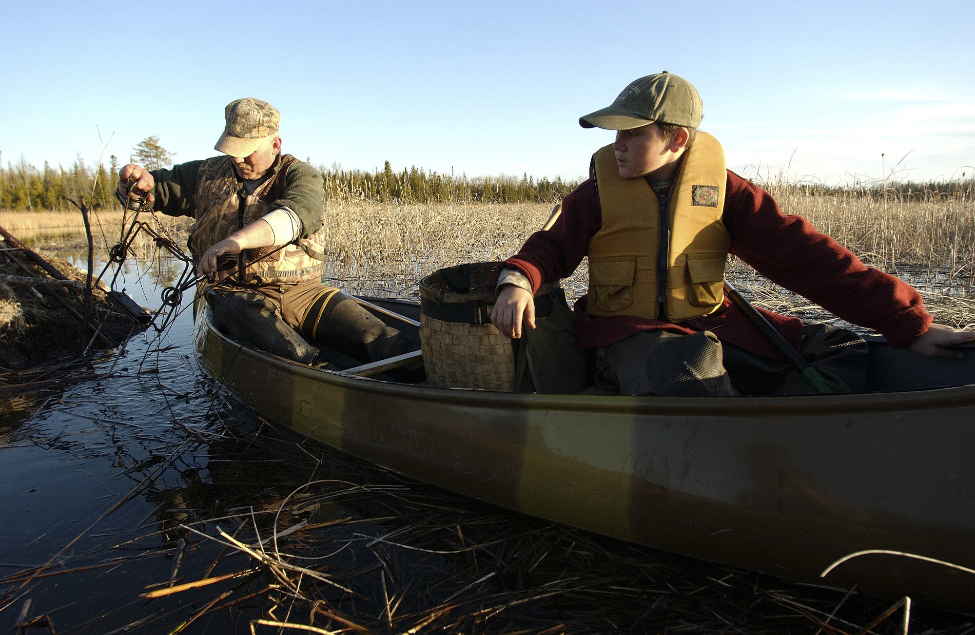 Beaver Trapping on an April day with Richard and Cole Stowe in Presque Isle County.